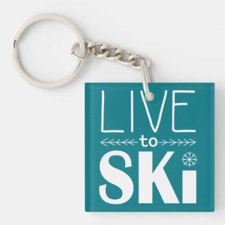 Live to Ski keychain