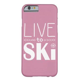 Live to Ski phone case (basic) - pink