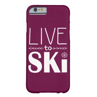 Live to Ski phone case (basic) - raspberry