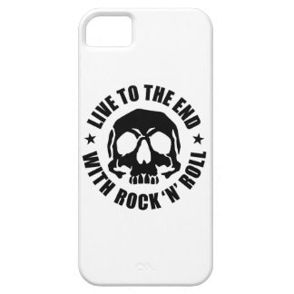 LIVE TO THE END WITH ROCK 'N' ROLL (W) SE/5s/5 Case For The iPhone 5