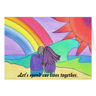Live Together Greeting Card