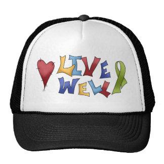 Live Well- Green Ribbon Mesh Hats