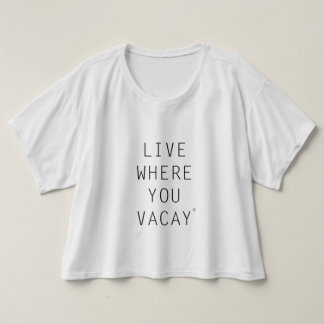 Live Where You Vacay Women's Tank Top