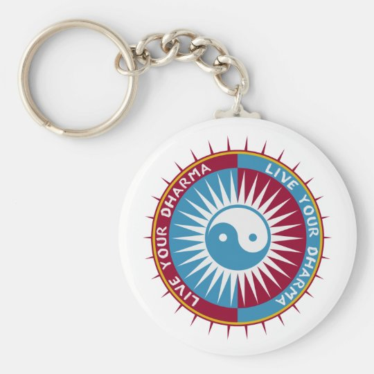 Live Your Dharma Basic Round Button Key Ring