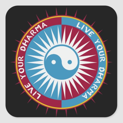 Live Your Dharma Sticker