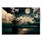 Live your dream greeting map card