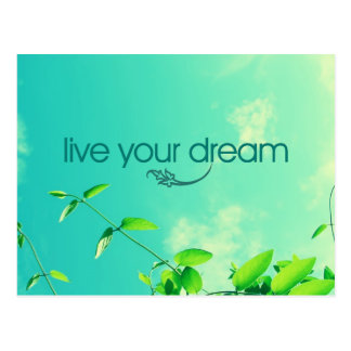 Live Your Dream. Vibrant Sky Post Card