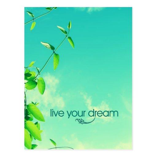 Live Your Dream. Vibrant Sky Postcards