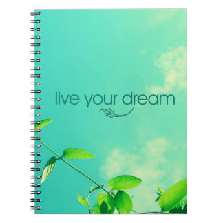 Live Your Dream. Vibrant Sky Spiral Note Book