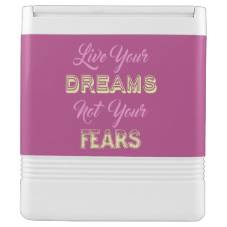 Live Your Dreams custom name & color cooler Igloo Cool Box