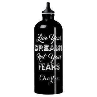 Live Your Dreams custom name travel bottle SIGG Traveller 1.0L Water Bottle