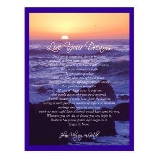 Live Your Dreams Postcard