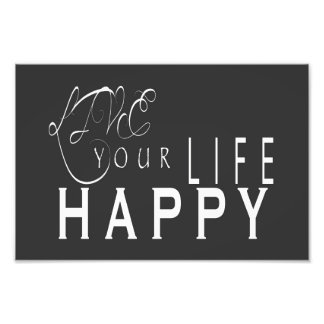 Live Your Life Happy Wedding Print 6X4, 12X8