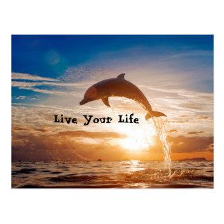 Live Your Life Motivation Postcard