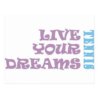 Live Your Tennis Dreams Postcard