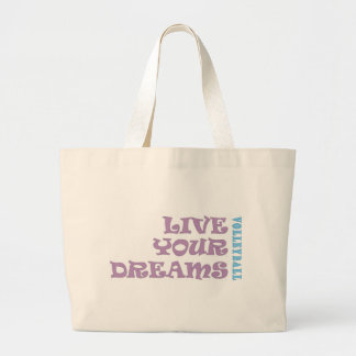 Live Your Volleyball Dreams Large Tote Bag
