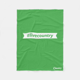 #LiveCountry Fleece Blanket