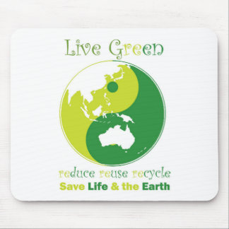 LiveGreen AustralAsia ying yang Mouse Pad