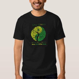 LiveGreen Black ying yang t1 Shirts
