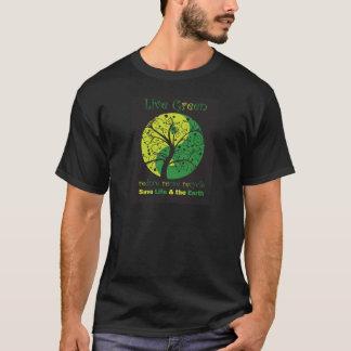 LiveGreen Black ying yang t1 T-Shirt