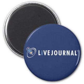LiveJournal Logo Horizontal 6 Cm Round Magnet