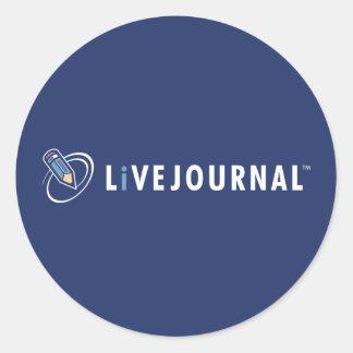 LiveJournal Logo Horizontal Classic Round Sticker