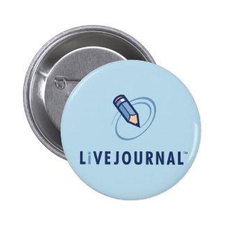 LiveJournal Logo Vertical 6 Cm Round Badge