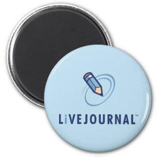 LiveJournal Logo Vertical 6 Cm Round Magnet