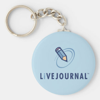 LiveJournal Logo Vertical Basic Round Button Key Ring