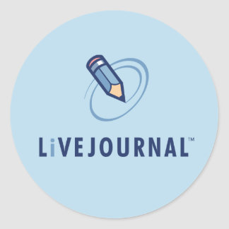LiveJournal Logo Vertical Classic Round Sticker