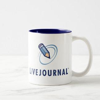 LiveJournal Logo Vertical Two-Tone Coffee Mug