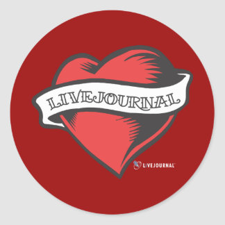 LiveJournal Tattoo Classic Round Sticker
