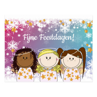 Lively Christmas card - Engeltjes and Bengeltjes