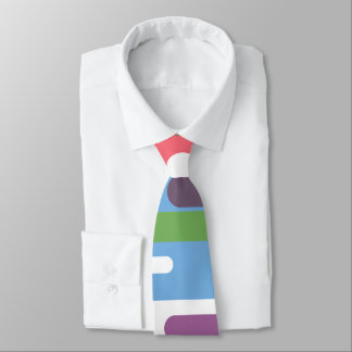 Lively colourful line pattern tie