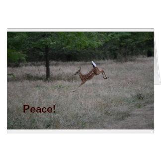 Lively Deer Notecard