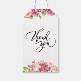 Lively Florals Thank You Gift Tag