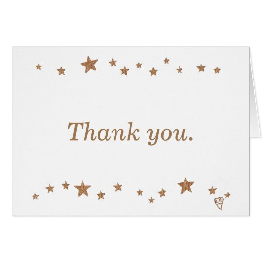 Lively Gold Stars 50th Anniversary Thank you Cards