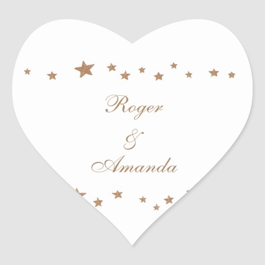 Lively Gold Stars Border Personalised Wedding Seal