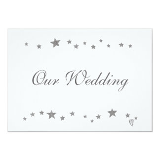Lively Silver Stars, Our Wedding, Invitations