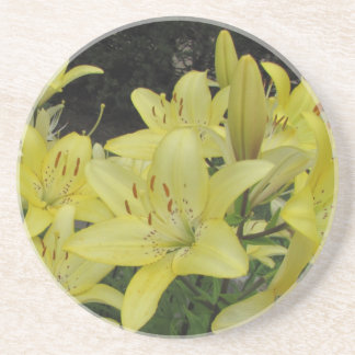 Lively Yellow Lilies Coasters