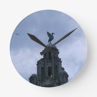 Liver Bird in Liverpool Round Clock