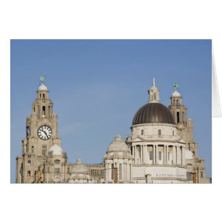 Liver Building, Liverpool, England Card