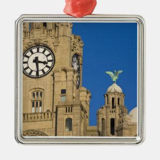 Liver Building, Liverpool, Merseyside, England Christmas Ornament