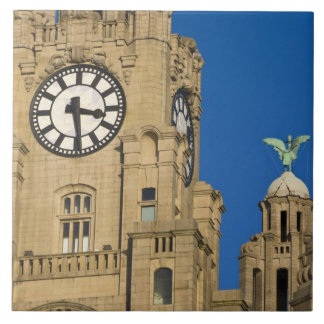 Liver Building, Liverpool, Merseyside, England Large Square Tile