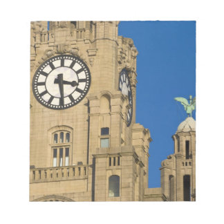 Liver Building, Liverpool, Merseyside, England Notepad