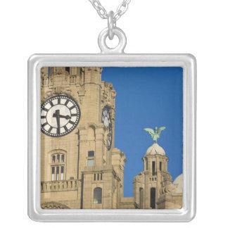 Liver Building, Liverpool, Merseyside, England Square Pendant Necklace