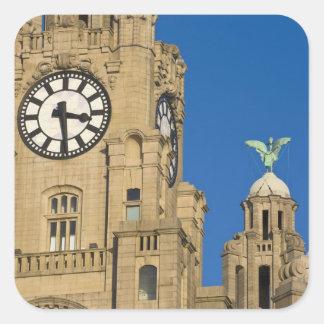 Liver Building, Liverpool, Merseyside, England Square Sticker