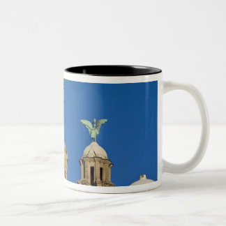 Liver Building, Liverpool, Merseyside, England Two-Tone Coffee Mug