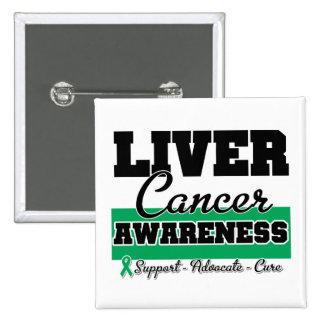 Liver Cancer Awareness 15 Cm Square Badge
