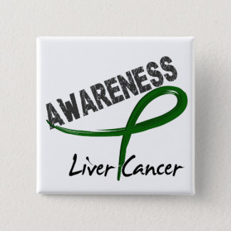 Liver Cancer Awareness 3 15 Cm Square Badge